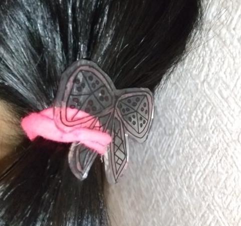 プラ板髪飾り